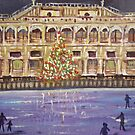 Christmas skating by Carole Russell