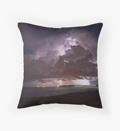 Summer beach Storm Throw Pillow