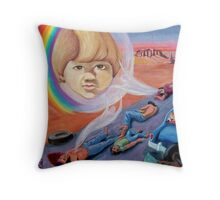 Incident on Dawn's Highway Throw Pillow