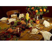 Festive Table Photographic Print