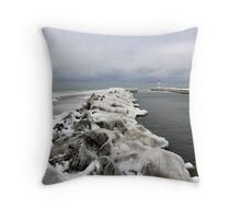 Ice on the Rock's Throw Pillow