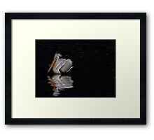 lonely pelican Framed Print