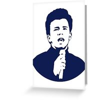 Rick Astley (Blue) Greeting Card