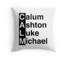 CALM - 5SOS - Calum Ashton Luke Michael Throw Pillow