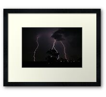 Natures Fury Framed Print