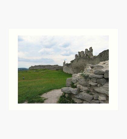Old castle in Kremenets Art Print