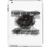 Black Rose iPad Case/Skin