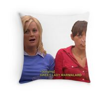 Ann and leslie Throw Pillow