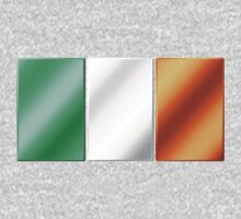 Irish Flag - Ireland - Metallic One Piece - Long Sleeve