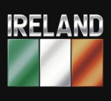 Ireland - Irish Flag & Text - Metallic Kids Clothes
