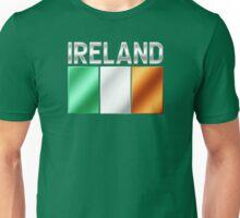 Ireland - Irish Flag & Text - Metallic Unisex T-Shirt