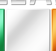 Ireland - Irish Flag & Text - Metallic Sticker
