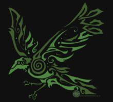 Corvid Dream (Green) by wyldwood
