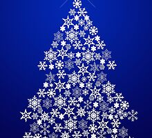 Snowflake Christmas Tree by joggi2002