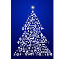 Snowflake Christmas Tree Photographic Print