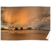 Stormy Sunset-8725 Poster