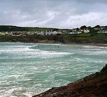 "UK: ""Beach Storm Brewing"", Cornwall by Kelly Sutherland"