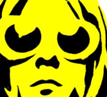 KURT COBAIN ARTWORK yellow Sticker