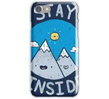 Stay Inside Sticker iPhone Case/Skin