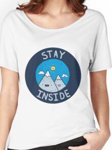 Stay Inside Sticker Women's Relaxed Fit T-Shirt