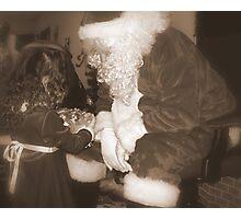 When Santa Claus Comes Photographic Print