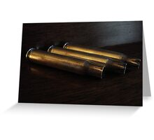 Spent Shell Casings Greeting Card