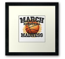 March Basketball Madness Framed Print