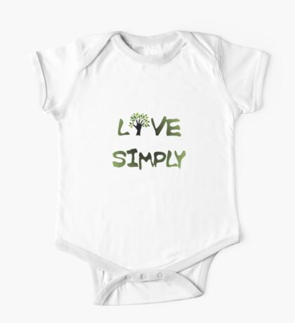 Live Simply - tree One Piece - Short Sleeve
