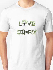Live Simply - tree Unisex T-Shirt