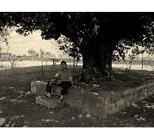 Under the tree of wisdom Photographic Print