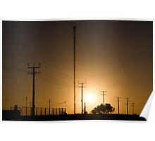 Sunset in Cook - Nullarbor Plain, South Australia Poster