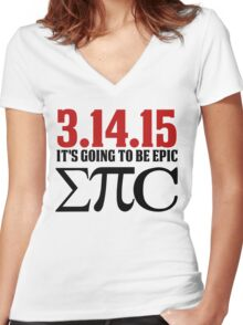Epic Pi Day Women's Fitted V-Neck T-Shirt