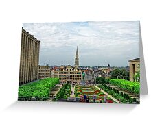Mont des Arts, Brussels, Belgium Greeting Card