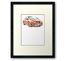 2014 Honda Civic SI Coupe Framed Print