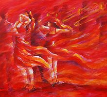 red salsa and trumpets by gerardo segismundo