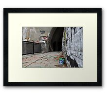beer and grafitti Framed Print
