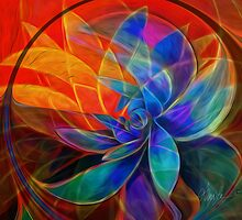 Desert Heat: Abstract Version psychedelic by Alma Lee