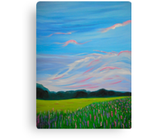 Sweet Calm Lavender Field painting fine art print Canvas Print