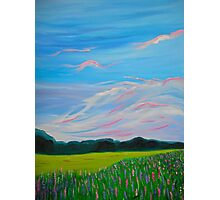 Sweet Calm Lavender Field painting fine art print Photographic Print