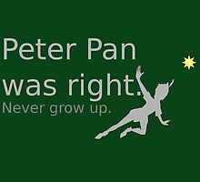 Peter Pan was Right by GeekyToGo