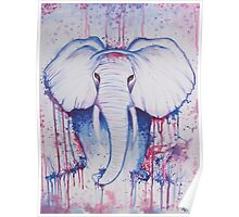 Water Color Elephant Poster