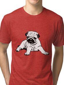 Cute Pug Tri-blend T-Shirt