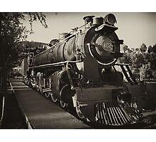 Railway engine. Photographic Print