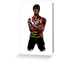 Zoro Tough Greeting Card