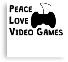 Peace Love Video Games Canvas Print