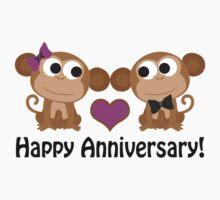 Happy Anniversary monkeys Kids Clothes
