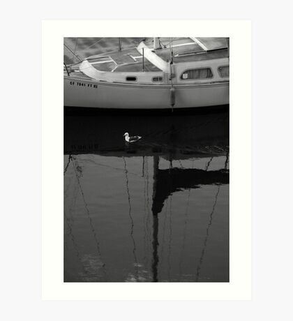 Boat Browsing Art Print