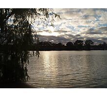 Dusk on the river. Photographic Print