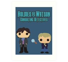 Holmes and Watson Art Print