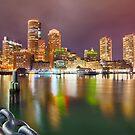 boston massachusetts city skyline by Alexandr Grichenko